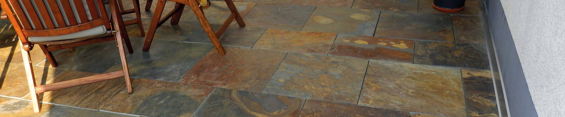 Fliesen aus stein : Schiefer rusty fliesen aus stein
